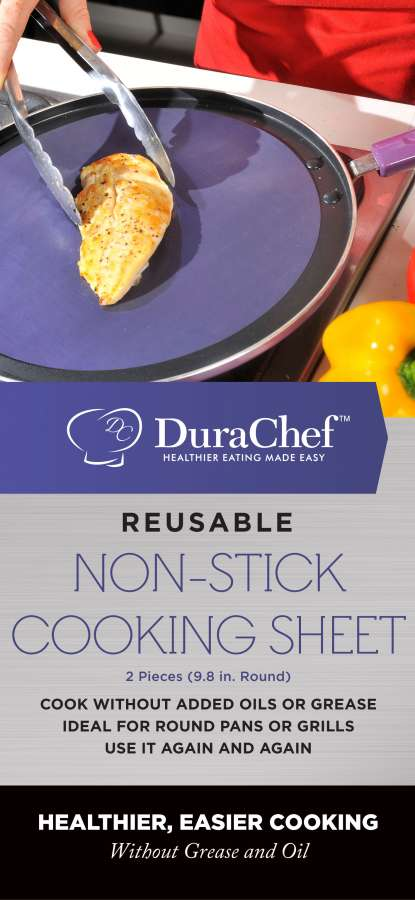 Non-Stick Cooking Sheet - Round (2 Pack) 2