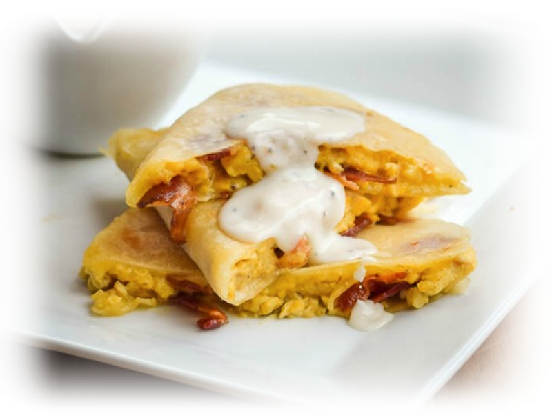 Bacon and Egg Breakfast Quesadilla