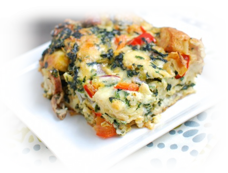 Sausage & Vegtable Egg Bake
