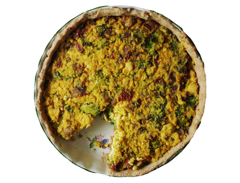 Broccoli & Sun-Dried Tomato Quiche