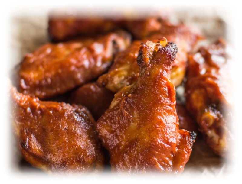 Baked Peach BBQ Chicken Wings